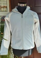 Authentic THE NORTH FACE Ladies grey Softshell APEX Hooded Jacket RECCO Size m