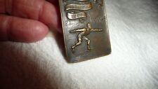 #1222 vtg Bronze tone Medal Ice Skating 1922 Ice Carnival Red Bank Nj Del Fisher