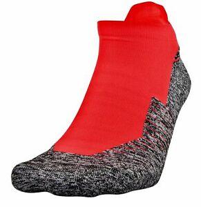 Under Armour UA Run Cushion No Show Tab Socks 1 Pair Men 4-8 Women 6-9 Beta Red