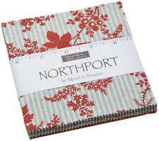 "Northport Prints Moda Charm Pack 42 100% Cotton 5"" Precut Fabric Quilt Squares"