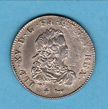 LOUIS XV 1/3 ECU FRANCE 1720 A  tres beau portrait