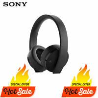 Genuine Sony Ps4 Gold Wireless Headset 7.1 Playstation Black W/ Accessories