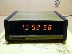 Vintage Heathkit GC-1005 Electronic Alarm Clock in Great Condition!