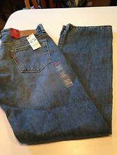 NWT Mens Levis 569 Loose Straight Fit Jeans Size 32 x 34  New 0214 Distressed