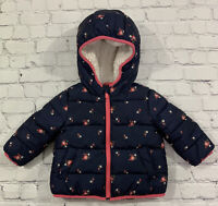 1980s Vintage London Fog Baby Girl/'s Pink Puffer Coat with Zipper and Snap Front Closure Bear Heart Applique Hood 18 Months