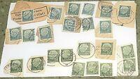 23 GERMANY STAMP Lot Deutsche Bundespost 7, 10, HEUSS Federal Republic 1954 Vtg