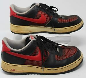 Nike Air Force 1 Low Black University Red Wolf Grey 488298-062 Men Shoes Sz 12