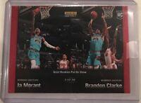 2019-20 Panini Instant #88 JA MORANT & BRANDON CLARKE Grizzlies RC SP 1 Of 170