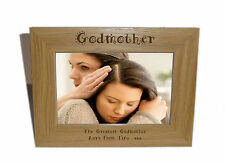 Godmother Wooden Photo Frame 6 x 4 - Personalise this frame - Free Engraving
