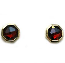 DAVID YURMAN NEW 18K Yellow Gold 10mm Guilin Garnet Octagon Earrings