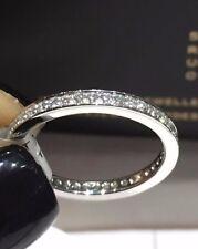 PLATINUM 0.45CT FVS ROUND CUT DIAMONDS FULL ETERNITY LADY RING GOY513