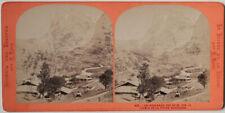 Original 1880er J. Stereofoto GRINDELWALD Schweiz von E. LAMY