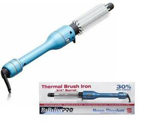 """Babyliss PRO Thermal Brush Iron 3/4"""" Barrel Nano Titanium NIB"""
