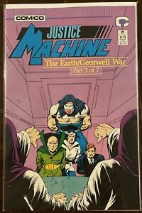 Justice Machine #21 NM- 9.2 COMICO THE EARTH/GEORWELL WAR PART 3
