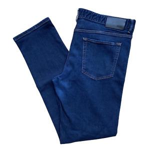 Mens Hugo Boss Jeans | W38 L34 | Dark Blue Slim With Stretch BIG & TALL RRP £119
