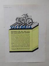 ORIGINAL UM 1930 MOTOR & SPORT WERBUNG VICTORIA KR50 NÜRNBERG OLDTIMER