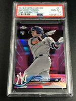 GLEYBER TORRES 2018 TOPPS CHROME #31 PINK REFRACTOR ROOKIE RC PSA 10