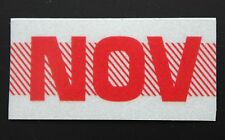 Old School 60's, 70's RED/WHITE Vintage Style CALIFORNIA MONTH STICKER. NOVEMBER