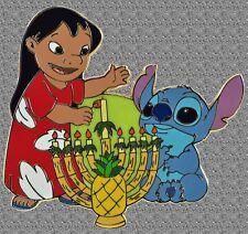 Lilo & Stitch Happy Hanukkah Jumbo Pin - DISNEY LE 500 - Proof Series