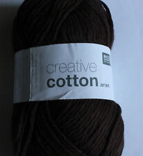 Rico Creative Aran weight 100%25 cotton yarn.Washable, various colours.