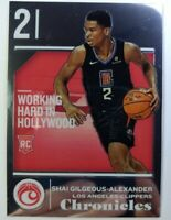 2018-19 Panini Chronicles Shai Gilgeous-Alexander Rookie RC #514, Clippers