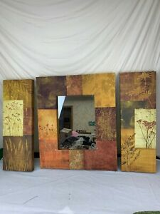 3 pc mirror and wall panel decor