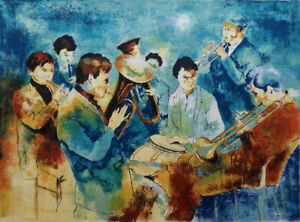 Viktor Viko : L'Orchestra - Lithography Original Signed And Numbered 150ex