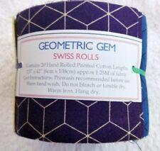 Patchwork Quilt Stoffe, Precut, Jelly Roll, Baumwolle, Geometric Gem
