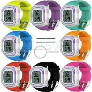 Fashion Silicone Men & Women's Watch Band Strap for Garmin Forerunner 15 10