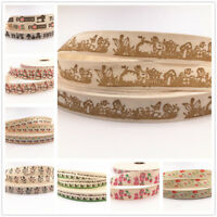 15mm Printed Cotton Ribbon Handmade Gift Present Package DIY Sewing Craft