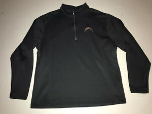Nike Golf LA/SD Chargers 1/4 Zip Pullover Black Mens Size Large NWOT!