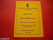 1996 ABERDEENSHIRE CUP FINAL HUNTLY V DEVERONVALE @ KEITH SCOTLAND