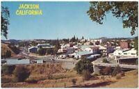 Gold Mining Town Jackson Ca Vintage Postcard California Chrome
