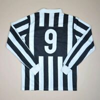 JUVENTUS ITALY 1989/1990 HOME FOOTBALL SHIRT JERSEY KAPPA VINTAGE #9 SIZE L