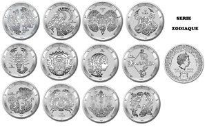 TOKELAU 5 Dollars Argent 12 x 1 Once Série Zodiaque 2021