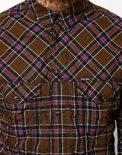 "DIESEL ""STULIPA"" ONLY THE BRAVE COFEE PLAID PATTERN SHIRT SIZE M / L RRP 125€"