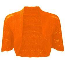 Women's Crochet Knitted Short Sleeve Shrug Ladies Cardigan Bolero Top Plus S-4XL