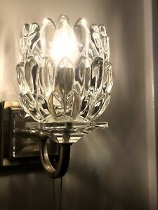Vintage Cut Glass Wall Light or Chandelier Shades X4 Excellent Condition
