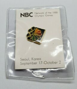 1988 Olympics Seoul South Korea NBC Lapel Pin Vintage New