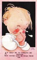 Mabel Lucie Attwell artwork Postcard Baby Crying Forgive My Friends~116984