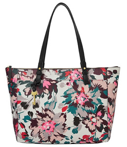 Fossil Women's Rachel Tote Purse Handbag Multi Floral