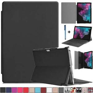 """For Microsoft Surface Pro 7 2019 Pro 6 5 4 12.3"""" Folio Leather Stand Case Cover"""