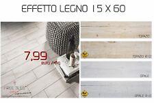 Piastrelle Pavimento Gres 15 X 60 EFFETTO LEGNO DA INTERNO E ESTERNO 7,99 €