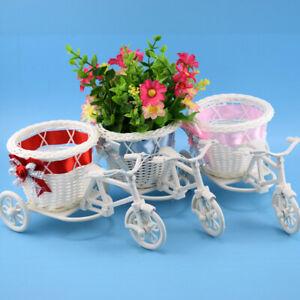 Big Wheel Round Basket Flower Vase Flowerpots Containers Small Flower Flower Pot
