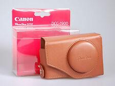 Canon DCC-1900 Kameratasche aus hellbraunem Leder für Canon Powershot S110