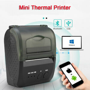 Mini 58mm Bluetooth USB Thermal Printer POS Receipt Printer Compatible with IOS