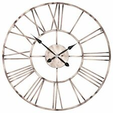 Large 92cm Vintage Copper Effect Industrial Skeleton Metal Wall Clock