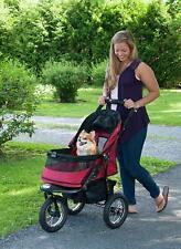 Pet Jogging Stroller Walks Beach Park Outdoor Indoor Safety Zipper Free Carrier