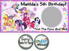10 My Little Pony Birthday Party Baby Shower Scratch Off Game Lottery Tickets