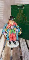 Dept 56 Dickens Sculpture In the Spirit Fezziwig Xmas Ornament Handpainted RARE